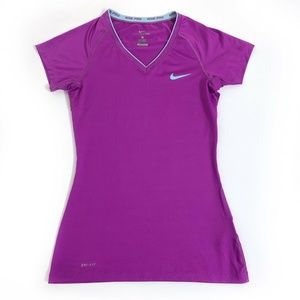 Nike Pro Fitted Shirt Top Womens Size Small